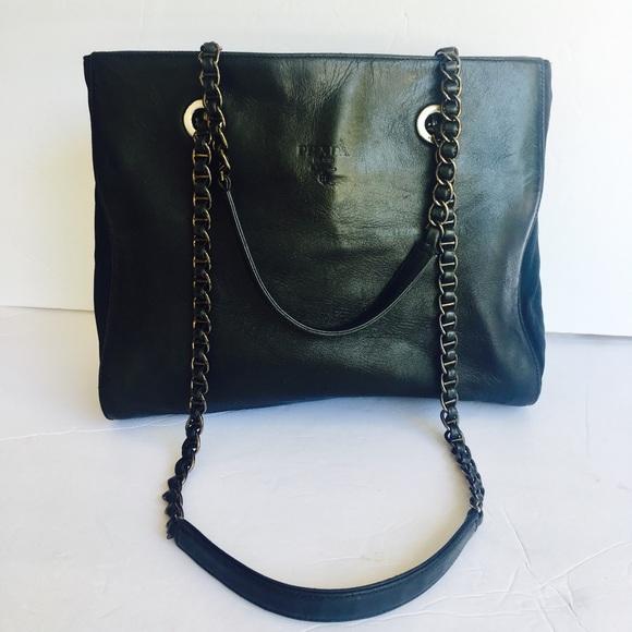 Authentic Vintage Prada chain shoulder tote bag. M 5b6a37a9d6716ad5edf64b63 f86971eebbfa6